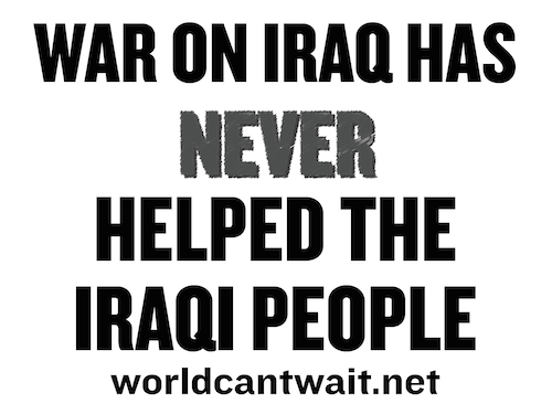 War never helped the Iraqi People