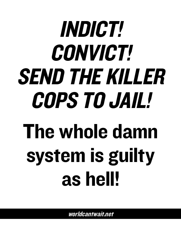 Indict the killer cops poster