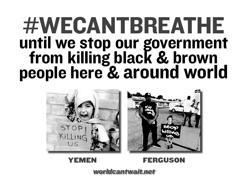 We can't breathe poster for window display